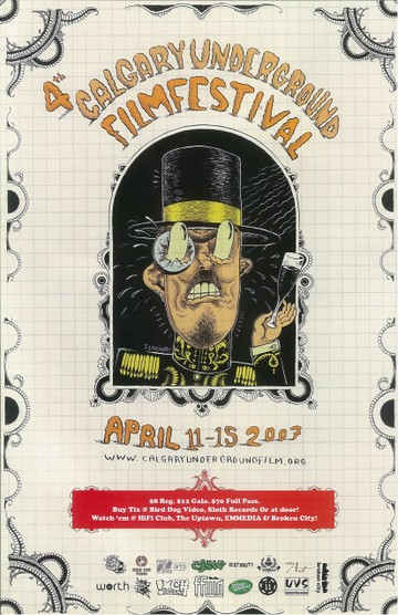 CUFF Poster from 2007 by Josh Holinaty